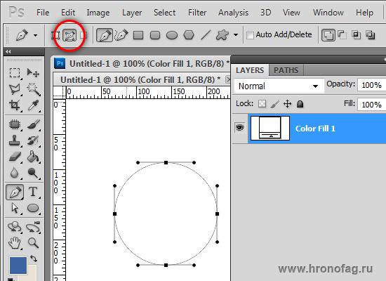 Как сделать векторный контур в фотошопе
