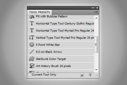 Tool Presets в Adobe Photoshop
