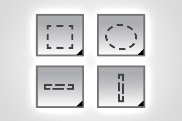 Инструменты выделения в Фотошопе: примитивы