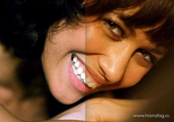 Как сделать белые зубы в Фотошопе