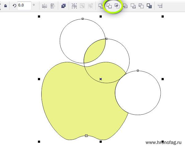 корел дро яблоко