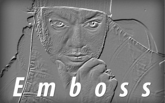 Фильтр Emboss в Фотошопе