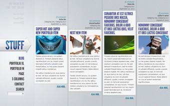 Создаем горизонтально ориентированный дизайн сайта