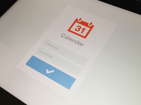 iPad-Calendar-Login