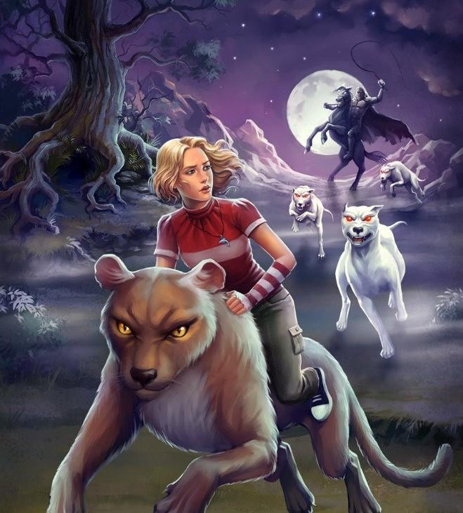девушка на медведе и волки