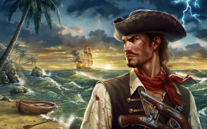 пират на море