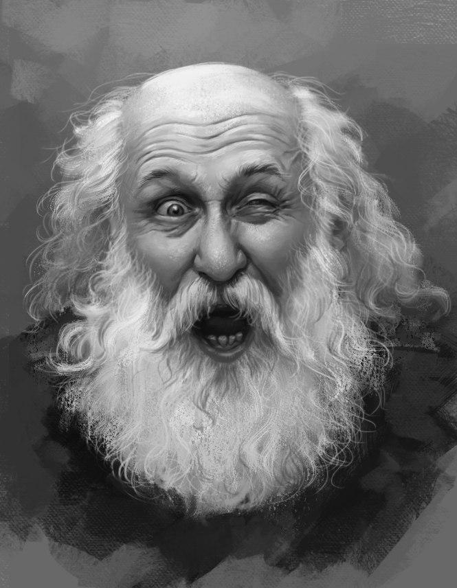 бородатый старик